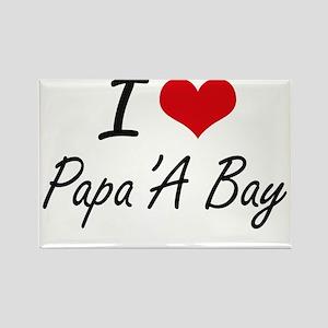I love Papa'A Bay Hawaii artistic design Magnets