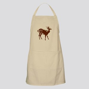 Philippine Spotted Deer Woodcut Apron