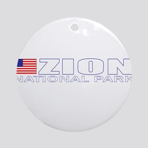 Zion National Park Ornament (Round)