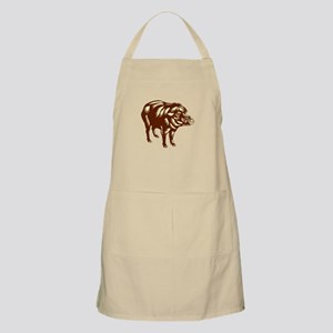 Philippine Warty Pig Woodcut Apron