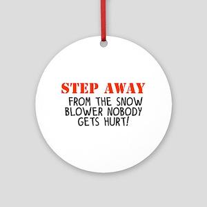 step away snow blower Ornament (Round)