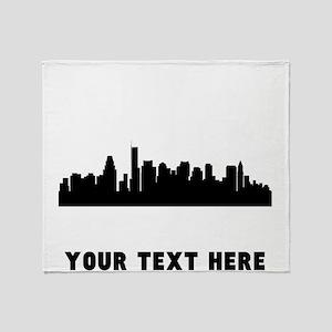Boston Cityscape Skyline (Custom) Throw Blanket