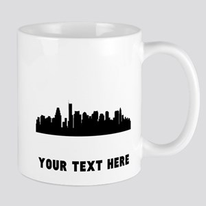 Boston Cityscape Skyline (Custom) Mugs