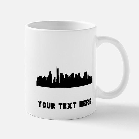 Boston Cityscape Skyline (Custom) Mugs