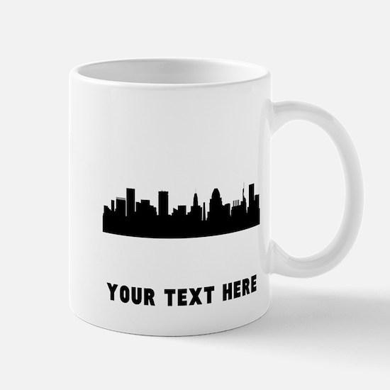 Baltimore Cityscape Skyline (Custom) Mugs