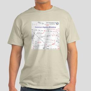 Common Algebra Mistakes Light Color T-Shirt