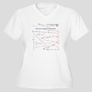 Common Algebra Mistakes W Plus V-Neck T-Shirt