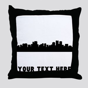 Anchorage Cityscape Skyline (Custom) Throw Pillow