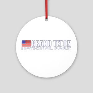 Grand Teton National Park Ornament (Round)