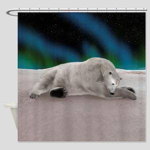 Polar Bear Resting Shower Curtain