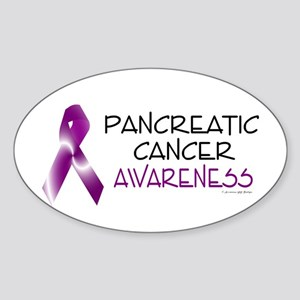 Pancreatic Cancer Awareness 2 Oval Sticker