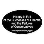 History Bumper Oval Sticker