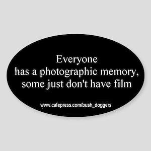 Photographic memory bumper Oval Sticker