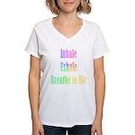 Inhale Exhale Yoga Dance V-Neck T-Shirt