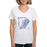 Park City Mountain Resort Women's V-Neck T-Shirt