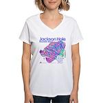Jackson Hole Mountain Resort Women's V-Neck T-Shir