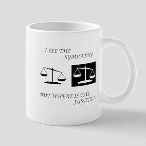 Sympathy vs. Justice Mug