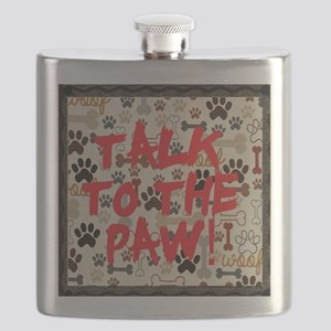 dog decor: talk to the paw Flask