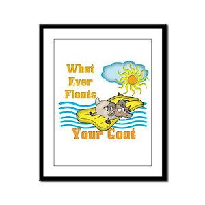 Float your Goat Framed Panel Print