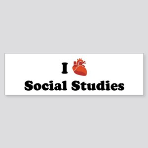 I (Heart) Social Studies Bumper Sticker