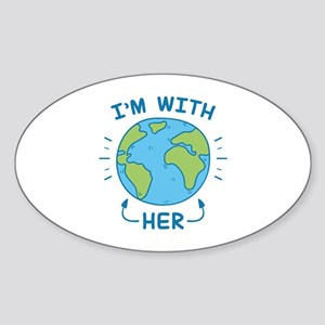 I'm With Her Sticker (Oval)