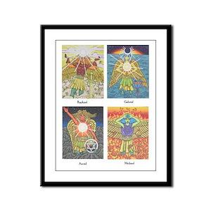 Four Archangels Framed Panel Print