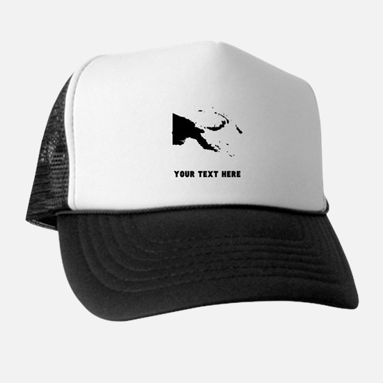 Papua New Guinea Silhouette (Custom) Trucker Hat