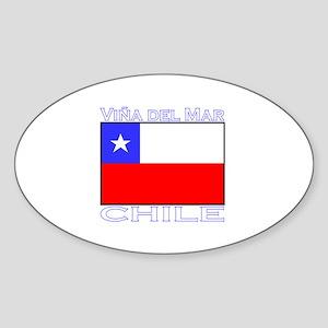 Vina del Mar, Chile Oval Sticker