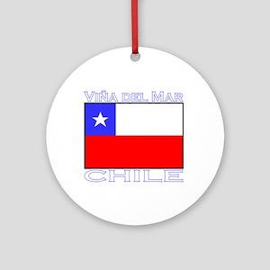 Vina del Mar, Chile Ornament (Round)