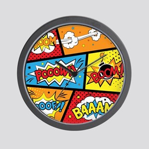 Comic Effects Wall Clock