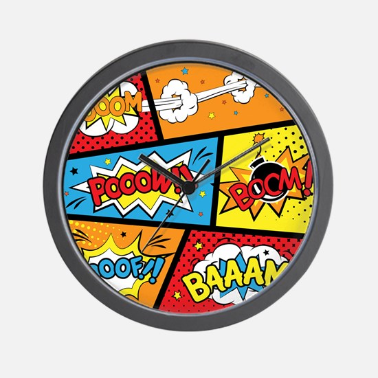 Comic Effects Wall Clock