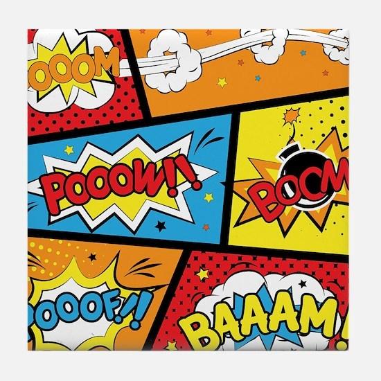 Comic Effects Tile Coaster