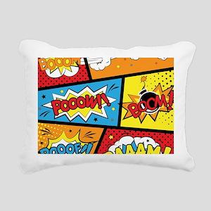 Comic Effects Rectangular Canvas Pillow
