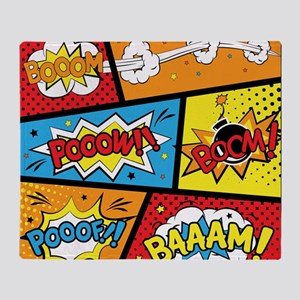 Comic Effects Throw Blanket