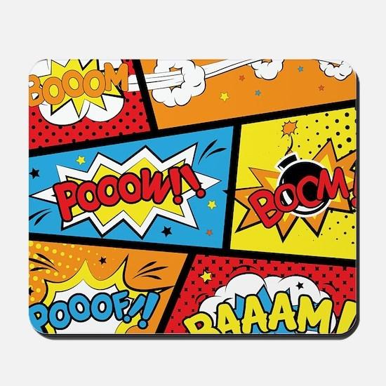 Comic Effects Mousepad