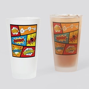 Comic Effects Drinking Glass