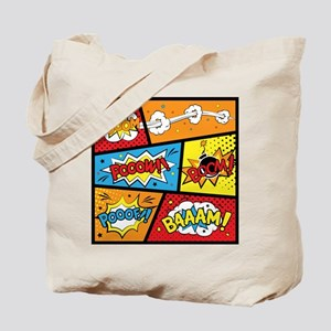 Comic Effects Tote Bag