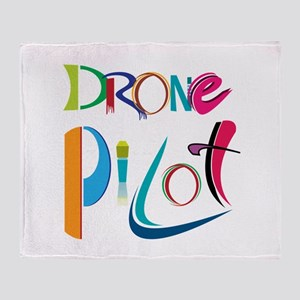 Drone Pilot Throw Blanket