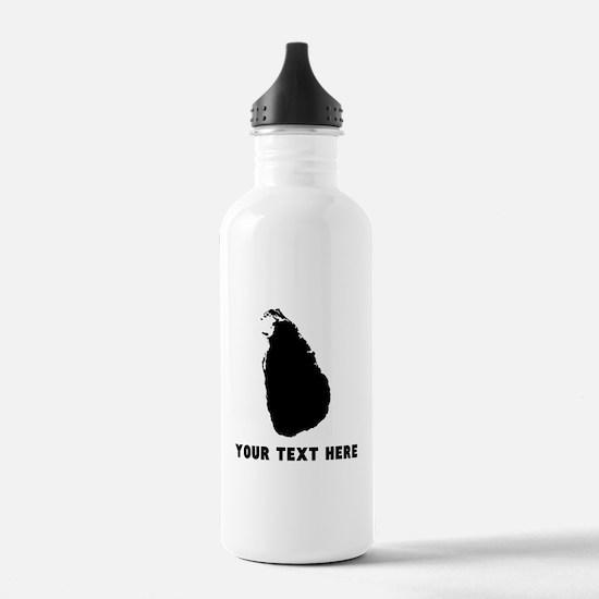 Sri Lanka Silhouette (Custom) Water Bottle