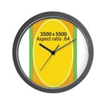 Sticker Images Wall Clock