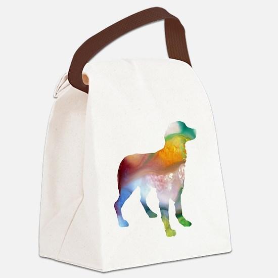 Cute Brittany spaniel Canvas Lunch Bag
