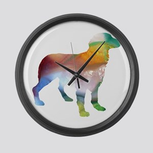 Brittany Spaniel Large Wall Clock