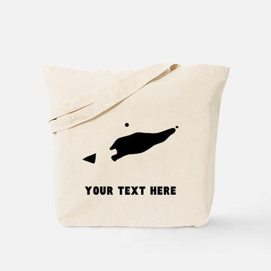 East Timor Silhouette (Custom) Tote Bag