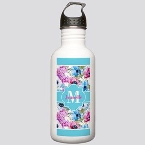 Chic Watercolor Flower Stainless Water Bottle 1.0L