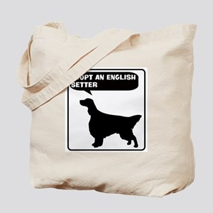 Adopt a English Setter Tote Bag