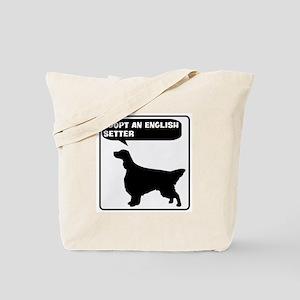 Adopt a English Setter Tote Bag