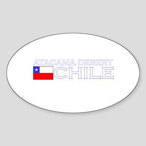 Atacama Desert Oval Sticker