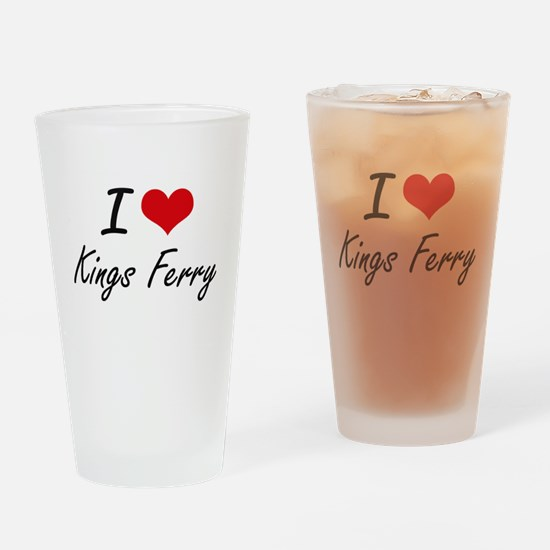 I love Kings Ferry Georgia artisti Drinking Glass