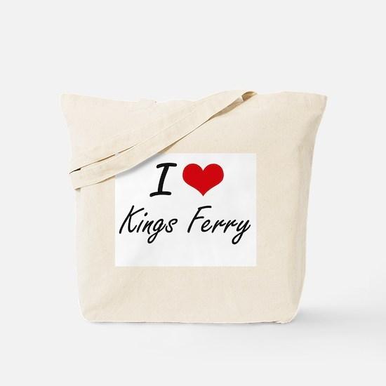 I love Kings Ferry Georgia artistic desi Tote Bag