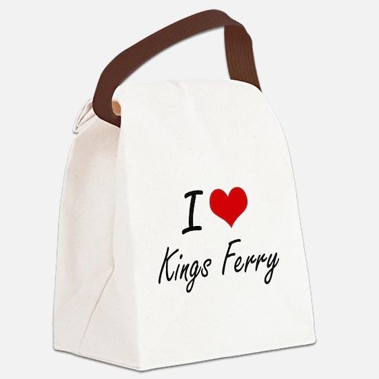 I love Kings Ferry Georgia artis Canvas Lunch Bag